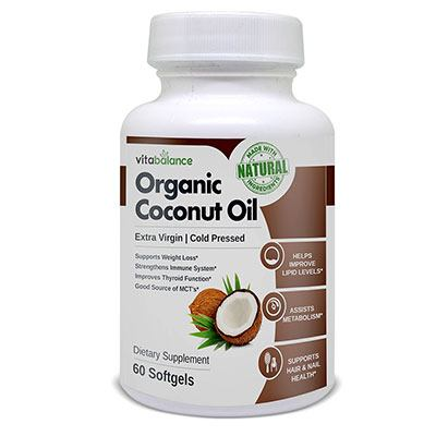 VitaBalance Organic Coconut Oil 1 bottle