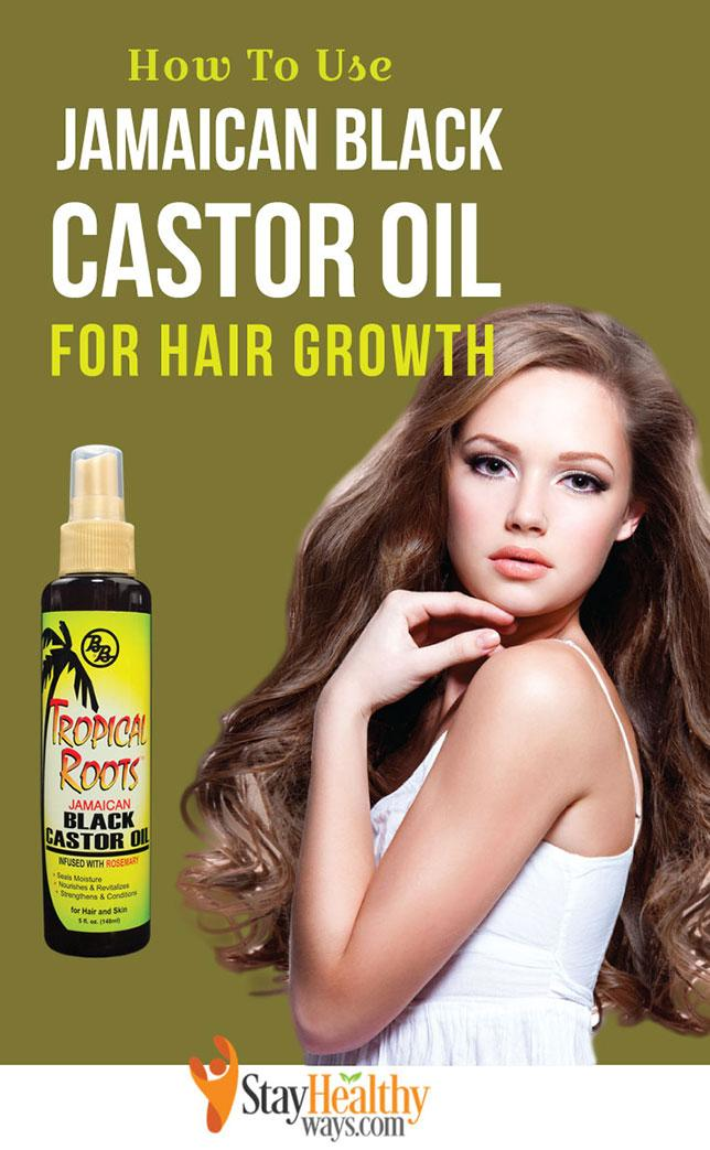 how to use jamaican black castor oil for hair growth infographic