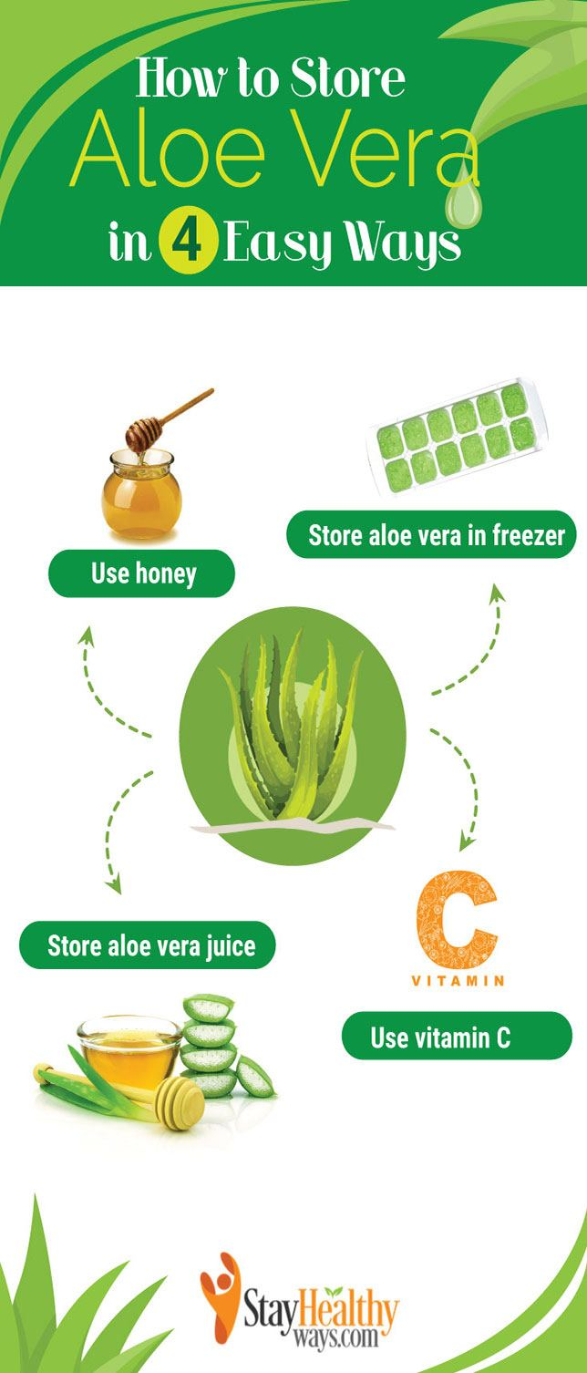 how to store aloe vera infographic