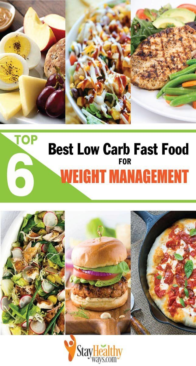 Top 6 of the Best Low Carb Fast Food for Weight Management