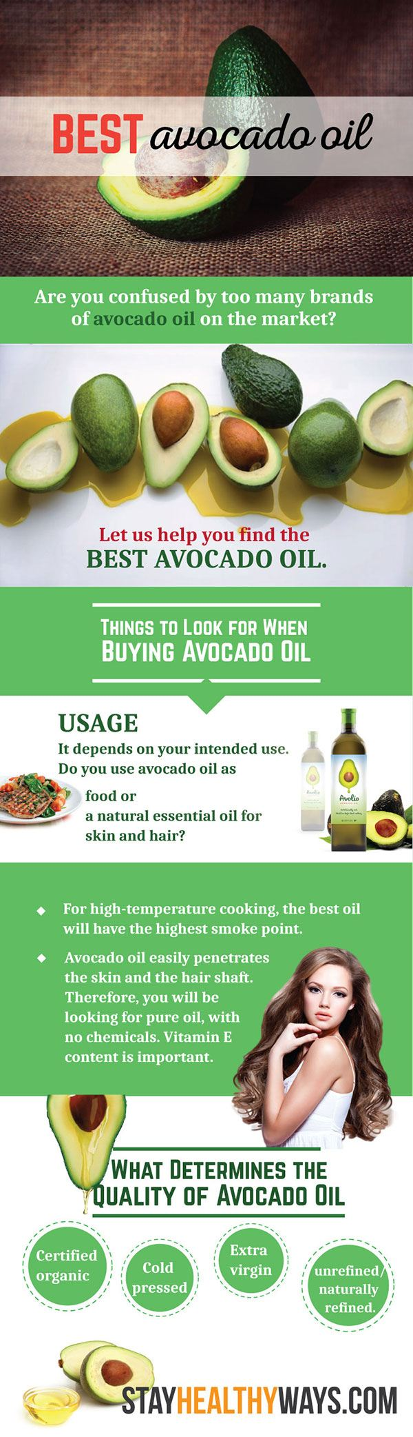 best avocado oil infographic