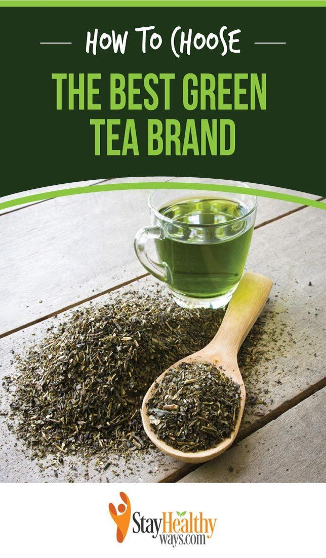 best green tea brand infographic