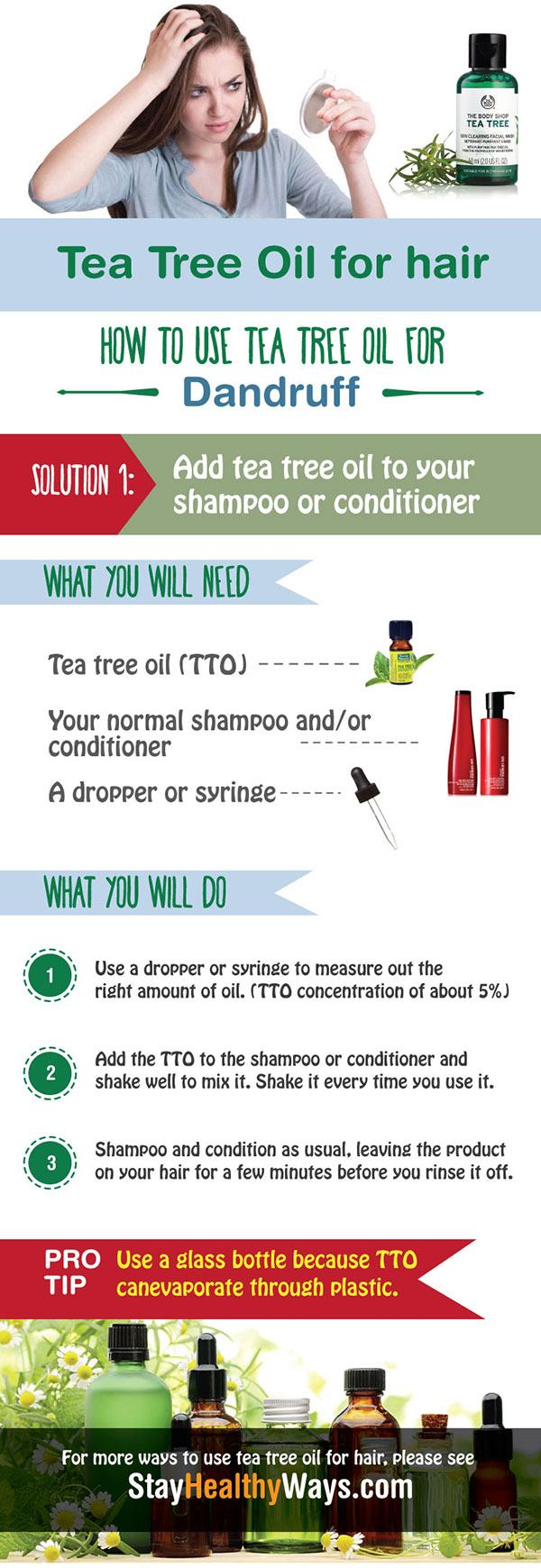 tea tree oil for hair infographic