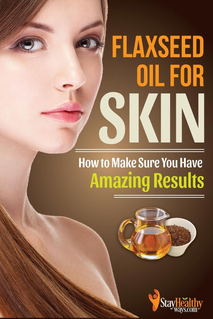 flaxseed oil for skin infographic