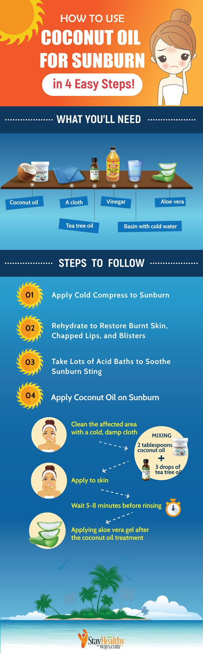 coconut oil for sunburn DIY